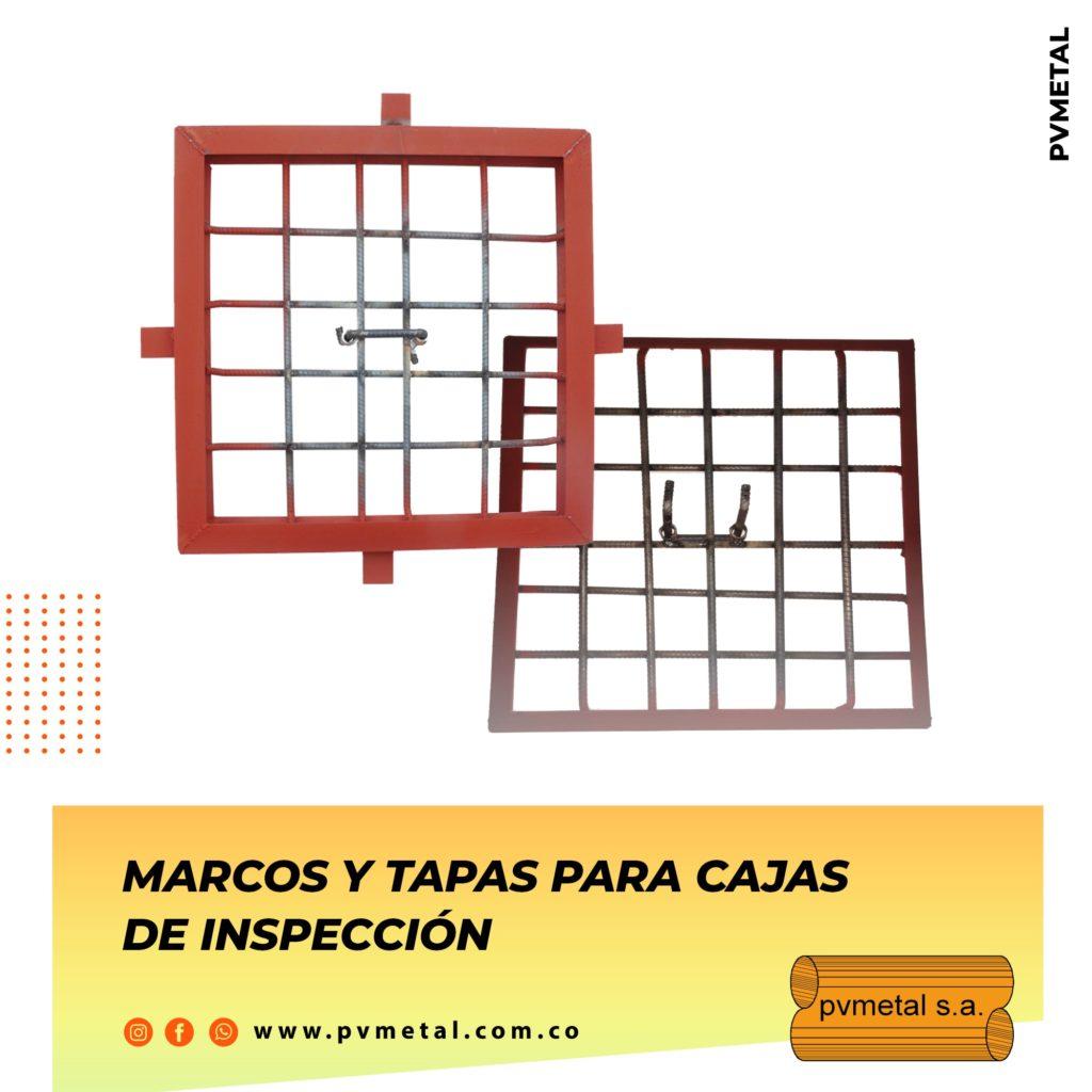 Marcos y Tapas Caja de Inspección